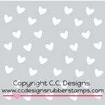 CC Designs - 6 x 6 Stencil - Heart Drop