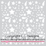 CC Designs - 6 x 6 Stencil - Boy Doodles