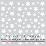 CC Designs - 6 x 6 Stencil - Flowing Flowers
