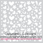 CC Designs - 6 x 6 Stencil - Girl Doodles