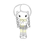 CC Designs - Cling Mounted Rubber Stamps - Shy Kiki La Rue