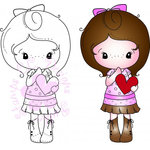 CC Designs - Cling Mounted Rubber Stamps - Heart Kiki La Rue