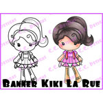 CC Designs - Cling Mounted Rubber Stamps - Banner Kiki La Rue