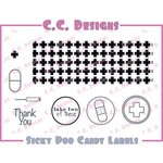 CC Designs - Cling Mounted Rubber Stamps - Sicky Poo Candy Labels