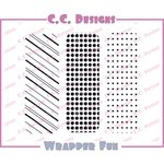 CC Designs - Cling Mounted Rubber Stamps - Wrapper Fun