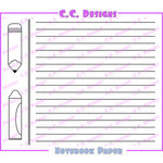 CC Designs - Cling Mounted Rubber Stamps - Notebook Paper Background