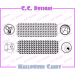 CC Designs - Cling Mounted Rubber Stamps - Halloween Candy Labels