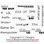 CC Designs - Cling Mounted Rubber Stamps - Hashtag Sentiments