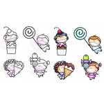 CC Designs - Meoples Collection - Cling Mounted Rubber Stamps - I Want Candy