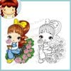 CC Designs - Cling Mounted Rubber Stamps - My Little Flower