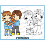 CC Designs - Cling Mounted Rubber Stamps - Puppy Love