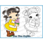 CC Designs - Cling Mounted Rubber Stamps - Yum Yum Sophie