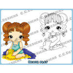 CC Designs - Cling Mounted Rubber Stamps - Beach Sophie