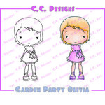 CC Designs - Cling Mounted Rubber Stamps - Garden Party Olivia