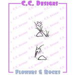 CC Designs - Cling Mounted Rubber Stamps - Flowers and Rocks