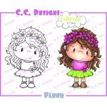 CC Designs - Pollycraft Collection - Cling Mounted Rubber Stamps - Fleur