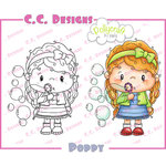CC Designs - Pollycraft Collection - Cling Mounted Rubber Stamps - Poppy