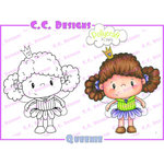 CC Designs - Pollycraft Collection - Cling Mounted Rubber Stamps - Queenie