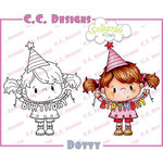 CC Designs - Pollycraft Collection - Cling Mounted Rubber Stamps - Dotty