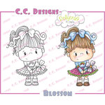 CC Designs - Pollycraft Collection - Cling Mounted Rubber Stamps - Blossom