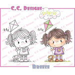 CC Designs - Pollycraft Collection - Cling Mounted Rubber Stamps - Breeze