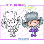 CC Designs - Pollycraft Collection - Halloween - Cling Mounted Rubber Stamps - Frankie