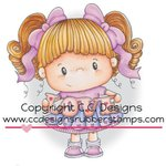 CC Designs - Pollycraft Collection - Cling Mounted Rubber Stamps - Freckles