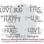 CC Designs - Pollycraft Collection - Cling Mounted Rubber Stamps - Valentine's