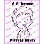 CC Designs - Robertos Rascals Collection - Cling Mounted Rubber Stamps - Picture Henry