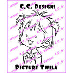 CC Designs - Robertos Rascals Collection - Cling Mounted Rubber Stamps - Picture Twila