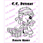CC Designs - Robertos Rascals Collection - Cling Mounted Rubber Stamps - Pirate Henry