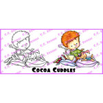 CC Designs - Robertos Rascals Collection - Cling Mounted Rubber Stamps - Cocoa Cuddles