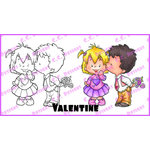 CC Designs - Robertos Rascals Collection - Cling Mounted Rubber Stamps - Valentine