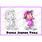 CC Designs - Robertos Rascals Collection - Cling Mounted Rubber Stamps - Puddle Jumping Twila