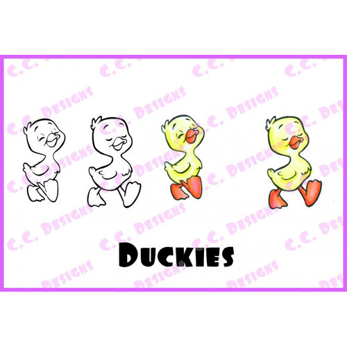 CC Designs - Robertos Rascals Collection - Cling Mounted Rubber Stamps - Duckies