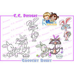 CC Designs - Robertos Rascals Collection - Cling Mounted Rubber Stamps - Grouchy Bunny