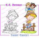 CC Designs - Robertos Rascals Collection - Cling Mounted Rubber Stamps - Sweet Chick