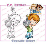 CC Designs - Robertos Rascals Collection - Cling Mounted Rubber Stamps - Cupcake Henry