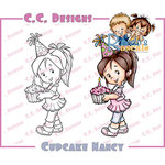 CC Designs - Robertos Rascals Collection - Cling Mounted Rubber Stamps - Cupcake Nancy