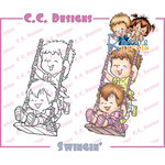 CC Designs - Robertos Rascals Collection - Cling Mounted Rubber Stamps - Swingin