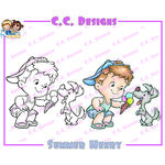 CC Designs - Robertos Rascals Collection - Cling Mounted Rubber Stamps - Summer Henry