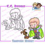 CC Designs - Robertos Rascals Collection - Halloween - Cling Mounted Rubber Stamps - Vampire Henry