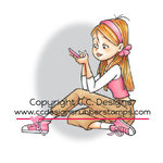 CC Designs - Robertos Rascals Collection - Cling Mounted Rubber Stamps - Erica Texting