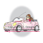 CC Designs - Robertos Rascals Collection - Cling Mounted Rubber Stamps - Erica's Car