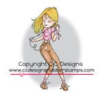 CC Designs - Robertos Rascals Collection - Cling Mounted Rubber Stamps - Ipod Erica