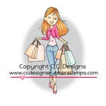 CC Designs - Robertos Rascals Collection - Cling Mounted Rubber Stamps - Shopping Erica