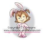 CC Designs - Robertos Rascals Collection - Cling Mounted Rubber Stamps - Bunny Twila