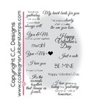 CC Designs - Cling Mounted Rubber Stamps - Rheas Twisted Side - Love Stuff