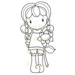 CC Designs - Swiss Pixie Collection - Cling Mounted Rubber Stamps - Birgitta