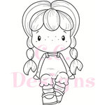 CC Designs - Swiss Pixie Collection - Cling Mounted Rubber Stamps - Cute Birgitta